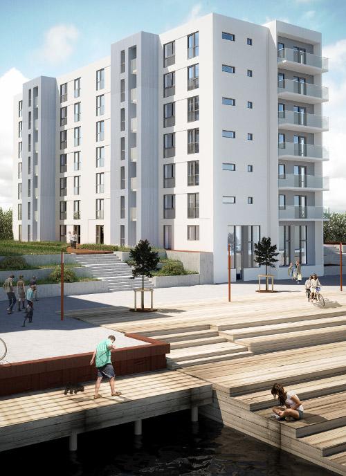 Mesanen - Leje lejligheder i Promenadebyen på Odense Havn